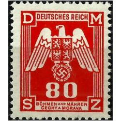 (O18) Bohemia y Moravia (Ocupación Alemana). 1943. 80 Harelu. Escudo (Nuevo)