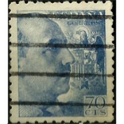 (929) 1940-45. 70 Céntimos. General Franco (Usado)
