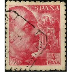 (933) 1940-45. 4 Pesetas. General Franco (Usado)