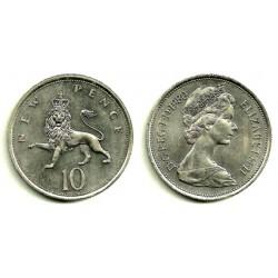 (912) Gran Bretaña. 1980. 10 New Pence (SC)