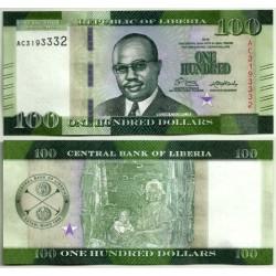(35) Liberia. 2016. 100 Dollars (SC)