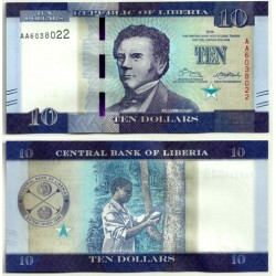 (32) Liberia. 2016. 10 Dollars (SC)