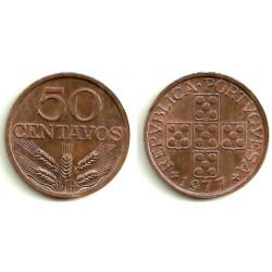(596) Portugal. 1977. 50 Centavos (EBC)