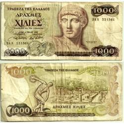 (202) Grecia. 1987. 1000 Drachma (BC)