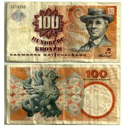 (61a) Dinamarca. 2002. 100 Kroner (BC-) Leve rotura margen derecho