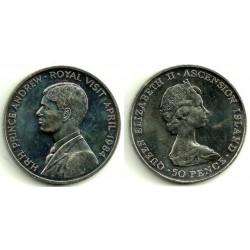 (6) Isla Ascensión. 1984. 50 Pence (SC)