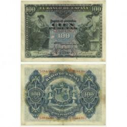 Billete de 100 Pesetas de 1906 (MBC). Serie C.