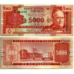 (223a) Paraguay. 2005. 5000 Guaranies (SC)