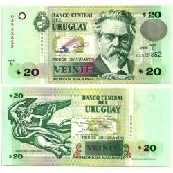 (86a) Uruguay. 2008. 20 Pesos (SC)