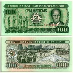 (130c) Mozambique. 1989. 100 Meticais (SC)