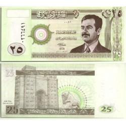 (86) Iraq. 2001. 25 Dinars (SC)