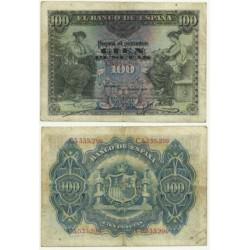 Billete de 100 Pesetas de 1906 (BC). Serie C.