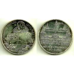 Austria. 2004. 10 Euro (SC) (Plata) Schloss Artstetten