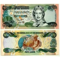 (68) Bahamas. 2001. 50 Cents (SC)