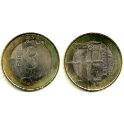 Eslovenia. 2010. 3 Euro (SC) Lubljana