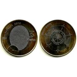 Eslovenia. 2012. 3 Euro (SC) 1912 Medalla Olímpica