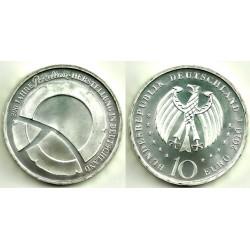 Alemania. 2010(F). 10 Euro (SC) (Plata)