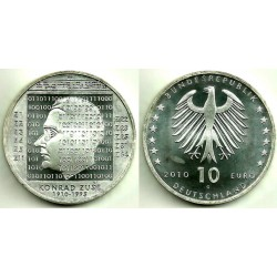 Alemania. 2010(G). 10 Euro (SC) (Plata)