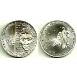 Alemania. 2008(G). 10 Euro (SC) (Plata)