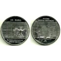 Alemania. 2007(J). 10 Euro (SC) (Plata)