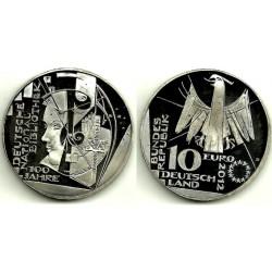 Alemania. 2012(D). 10 Euro (SC)