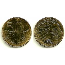 (44.3) Etiopia. 2004(1996). 5 Cents (MBC+)