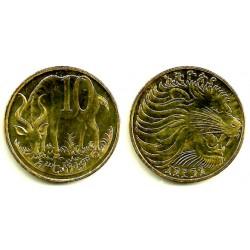 (45.3) Etiopía. 2004(1996). 10 Cents (EBC)