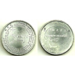 Países Bajos. 2004. 5 Euro (SC) (Plata)
