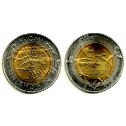 Finlandia. 2007. 5 Euro (SC)