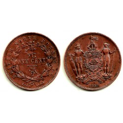 (32) Borneo (Británico). 1889. 1 Cent (MBC-)