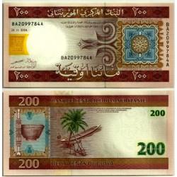 (11a) Mauritania. 2004. 200 Ouguiya (SC)