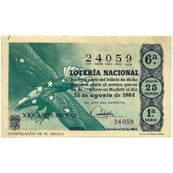 Décimo. 25 de Agosto de 1964. Constelación de el Águila