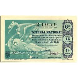 Décimo. 25 de Abril de 1964. Constelación del Cisne