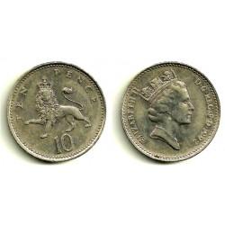 (938b) Gran Bretaña. 1992. 10 Pence (BC+)