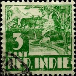(167) Indias Holandesas. 1933-37. 3 Cents (Usado)