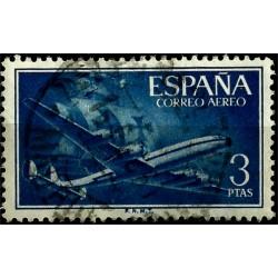 (1175) 1955-56. 3 Pesetas. Supercont. y Santa María (Usado)