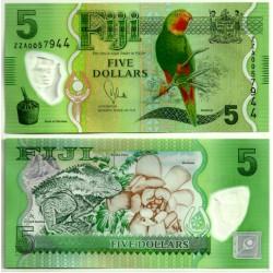 (115a) Islas Fiji. 2012. 5 Dollars (SC)