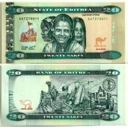 (12) Eritrea. 2012. 20 Nafka (SC)