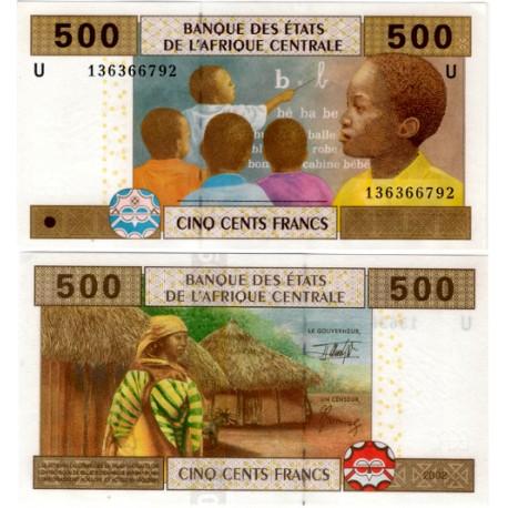 (206Ub) Estados Af. Central. 2002. 500 Francs (SC)