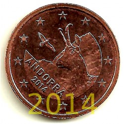 Andorra. 2014. 5 Céntimos (SC)