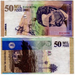 (455) Colombia. 2009. 50000 Pesos (MBC+)
