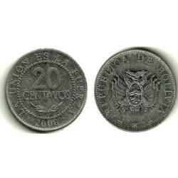 (203) Bolivia. 2006. 20 Centavos (MBC)