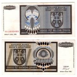 (143) Bosnia-Hercegovina. 1993. 5000000 Dinara (EBC+)