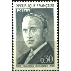 (1021) Francia. 1962. 30 Centimes. Maurice Bourdet (Nuevo)