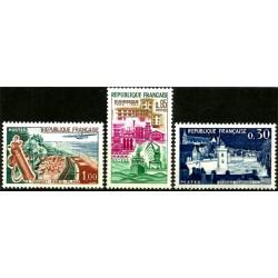 (1025 a 1027) Francia. 1962. Serie Completa (Nuevo)