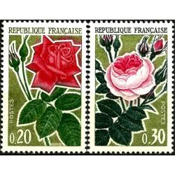 (1043-1044) Francia. 1962. Serie Completa. Rosas (Nuevo)