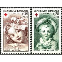 (B365-B366) Francia. 1962. Serie Completa. Cruz Roja (Nuevo)