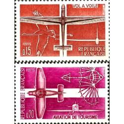 (1034-1035) Francia. 1962. Serie Completa. Deportes Aviación (Nuevo)