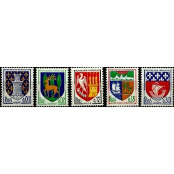 (1091 a 1095) Francia. 1964-65. Serie Completa. Escudos de Armas (Nuevo)