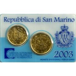 San Marino. 2003. Cartera Oficial reducida (SC) (2 Valores)
